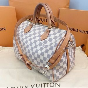✨SPEEDY BANDO 30✨ Auth Azur Louis Vuitton Bag!